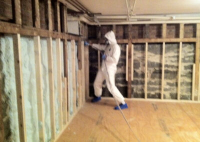 this image shows garage spray foam insulation vancouver bc