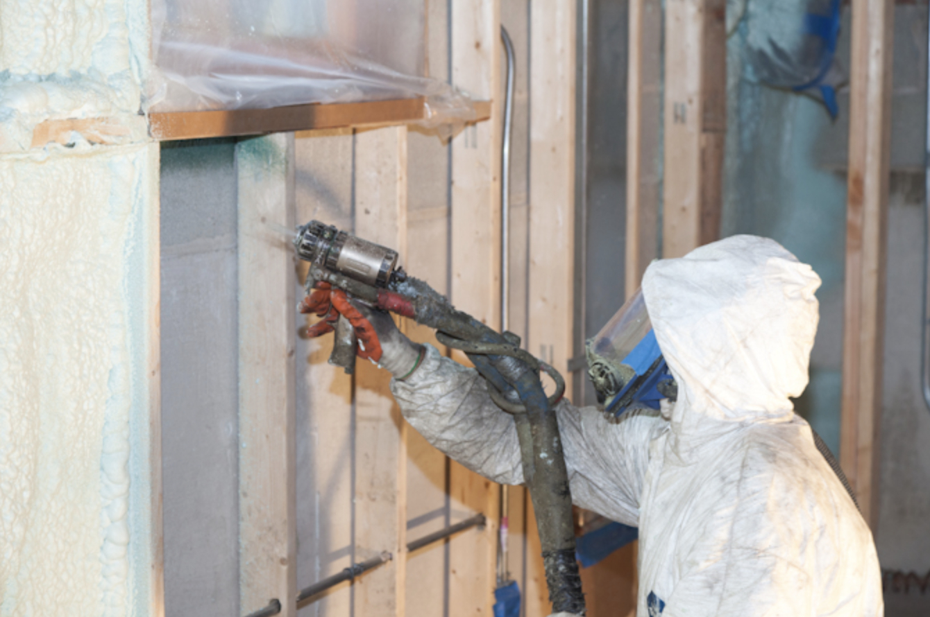 this is an image of spray foam insulation in Vancouver, British Columbia